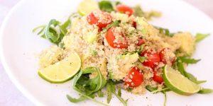 quinoa con ensalada